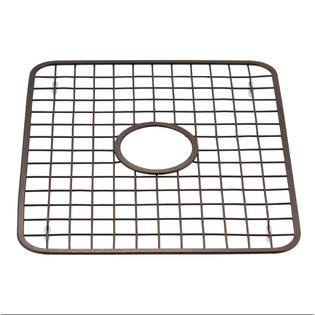 Sink Grid Protector Rack with Drain Hole in Middle, Oil Rubbed (Sink Basket Grid)