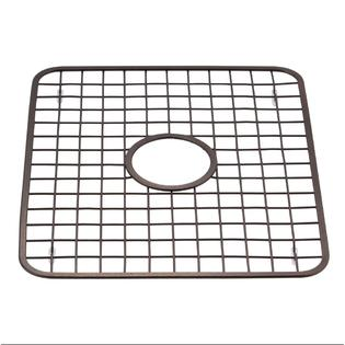 Superior Sink Grid Protector Rack With Drain Hole In Middle, Oil Rubbed Bronze