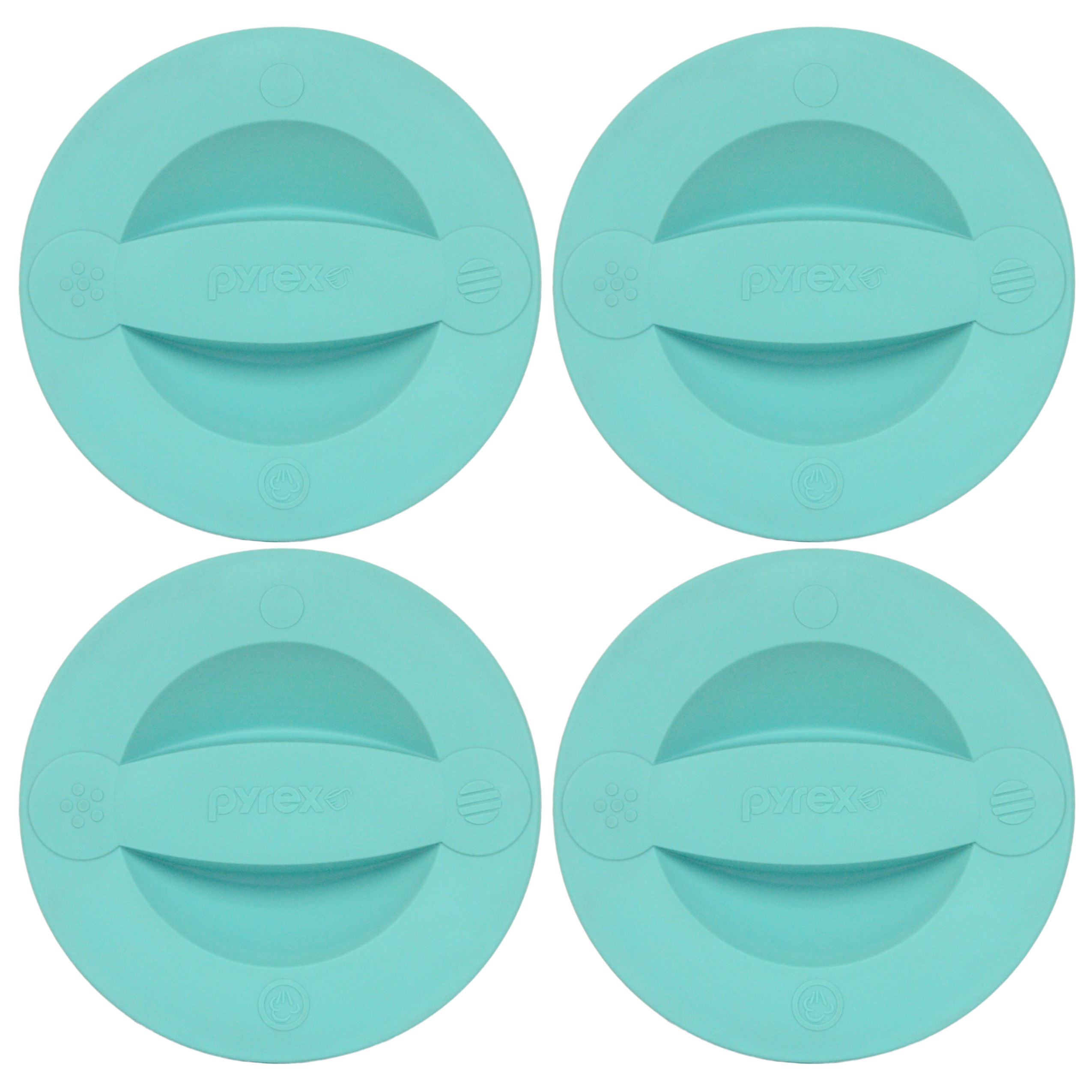 Pyrex Replacement Lid 516-PC Turquoise Measuring Cup Cover (4-Pack) for Pyrex 2-Cup Glass Measuring Cup (Sold Separately)