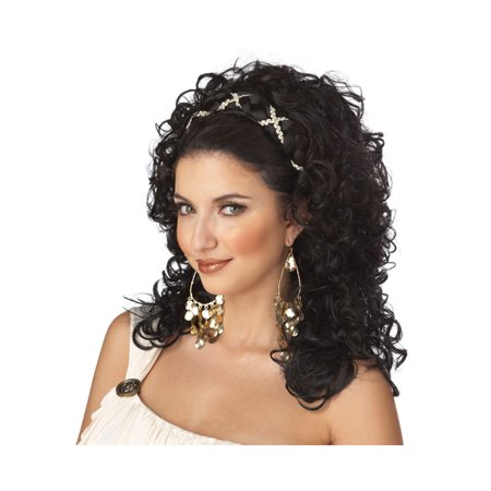 Grecian Goddess Costume Wig (1/2 falls / Dark Brown)