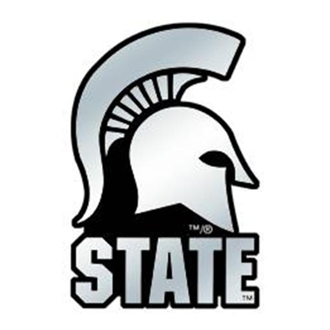 Michigan State Spartans Silver Auto Emblem