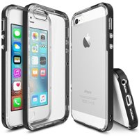 iPhone SE / 5S / 5 Case, Ringke [FRAME Series] Reinforced Dual-Layered Guard Bumper Cover [SF Black]