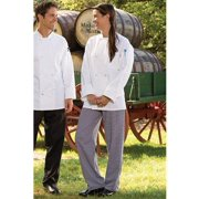 """4005C-4002 Classic Baggy Chef Pant 2"""" Elastic Waist in Houndstooth - Small"""