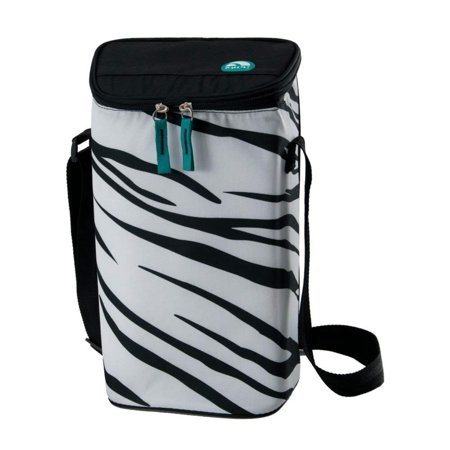 Igloo 2 Bottle Wine Tote (Zebra Design) - Insulated cooler compartments holds two wine bottles