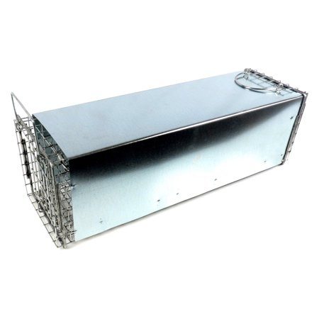 tomahawk live trap sheet metal covered trap with rear sliding door ()