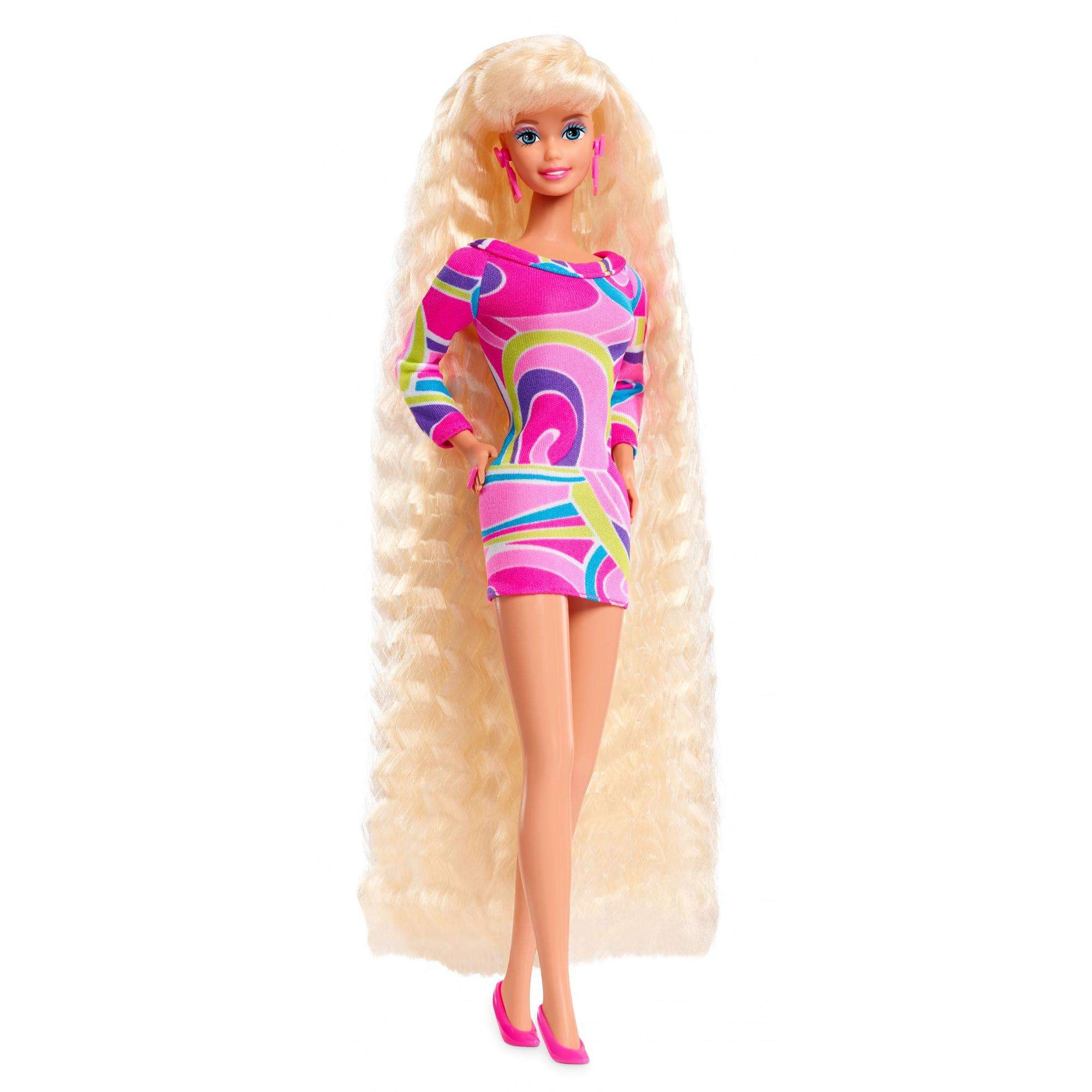 Barbie Totally Hair 25th Anniversary 90s Barbie Doll with Crimped Hair by Barbie