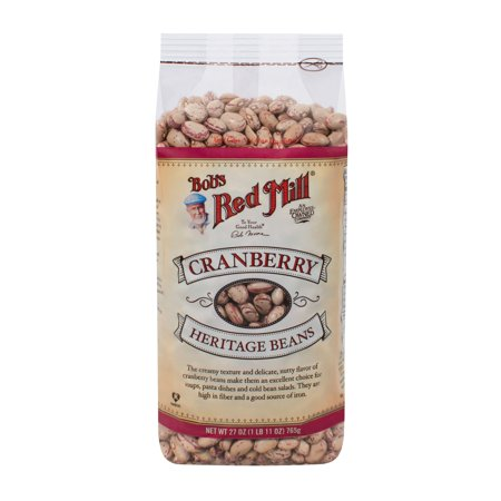 One 27 Ounce Bob's Red Mill Cranberry Beans