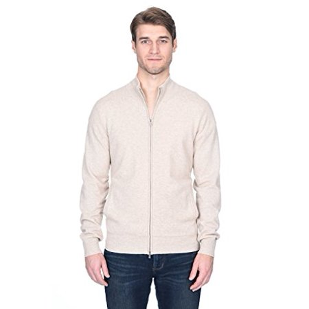 State Fusio Men's Cashmere Wool Full-Zip Mock Neck Sweater