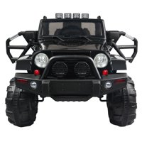 Zimtown 12V Ride On Car Truck Electric Battry-Powered RC Car Toy w/ Remote Control, 3 Speeds, Spring Suspension, LED Lights, MP3 - Kids SUV