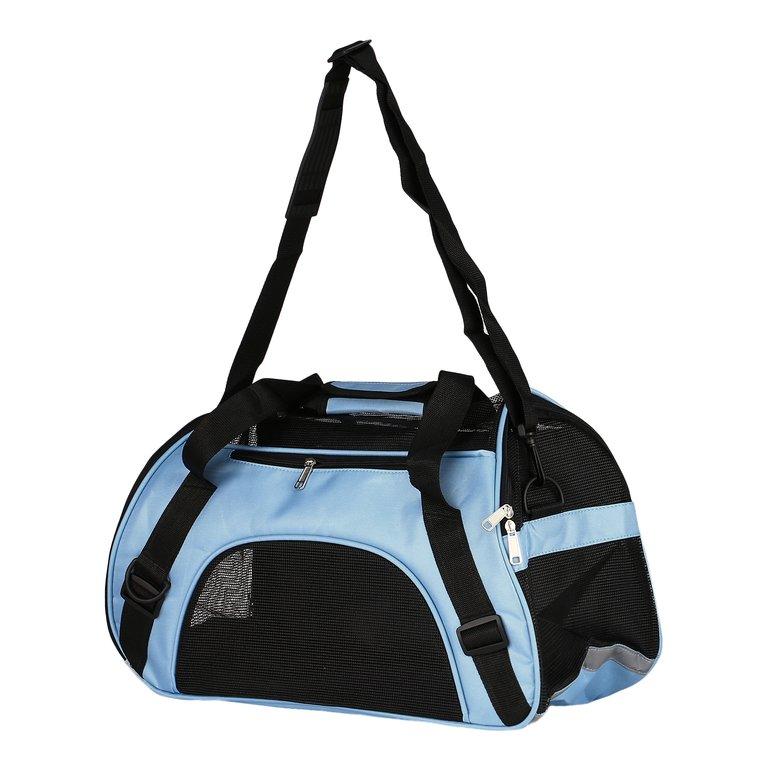 Waterproof Nylon&Mesh Pet Carrier Cat Dog Handbag Tote Travel Messenger Bag
