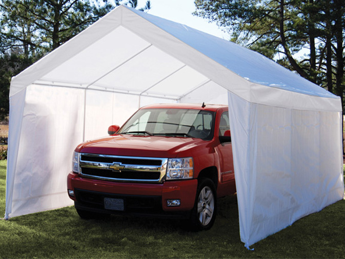 True Shelter 10' X 20' Car Canopy Gazebo Tent Cover 8 legs steel Frame Garage by
