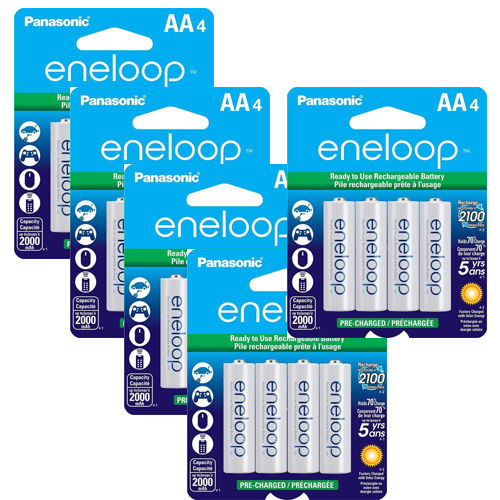Panasonic Eneloop 20 AA Pre-Charged up to 2000mAH Rechargeable Batteries