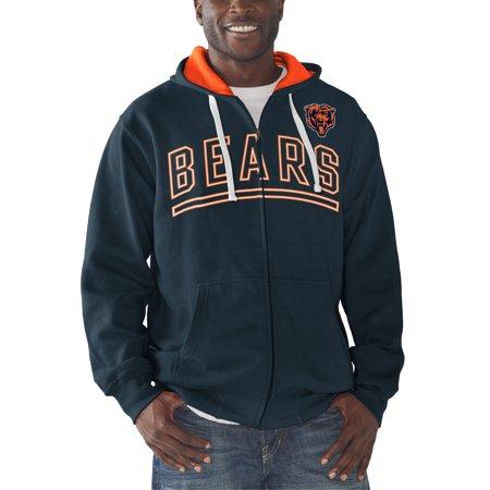 Chicago Bears Hoodie - Chicago Bears G-III Sports by Carl Banks Audible Full-Zip Fleece Hoodie - Navy