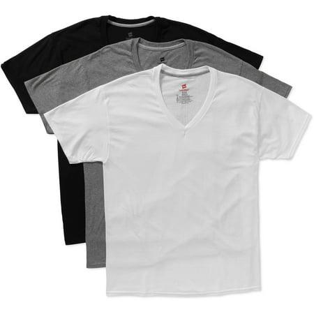 Hanes Men 39 S Comfortblend V Neck T Shirts 3 Pack