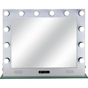 Lighted Hollywood Vanity Makeup Mirror Tabletop with 12 LED Dimmer, USB, Bluetooth Speaker, Wall Mounted Lighting-VL004116