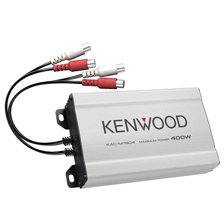 Kenwood KAC-M1804 Compact 4-channel Amplifier (Kenwood Amp 4 Ohm)