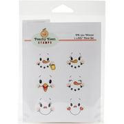 Peachy Keen Stamps Clear Face Assortment 6/pkg-winter