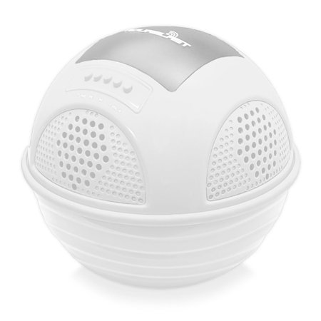 Aqua System - Aqua Blast BT Floating Pool Speaker System with Built-in Battery and Wireless Music Streaming (White Color)