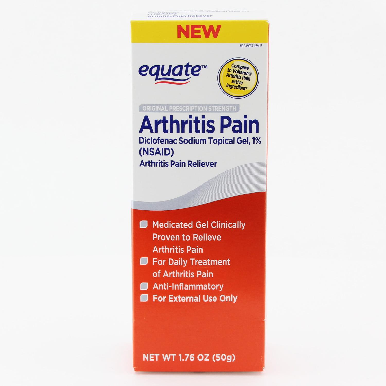 Equate Diclofenac Sodium Topical Gel Arthritis Pain Reliever 1 7 Oz Walmart Com Walmart Com