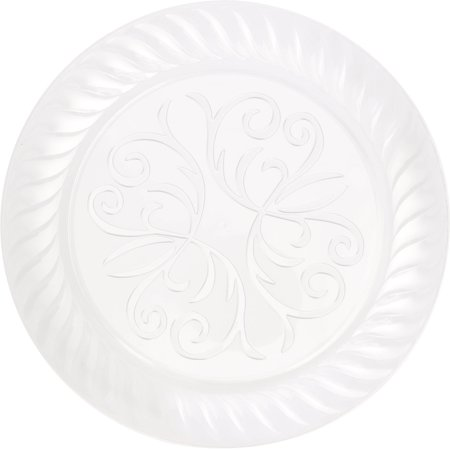 "7"" Fluted Clear Plastic Plates, 10ct"