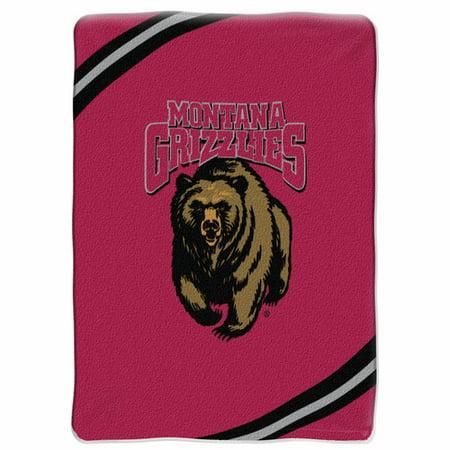 Montana Grizzlies NCAA Force Series Raschel Plush 60x80 Twin Size Throw/Blanket 60x80 Twin Blanket