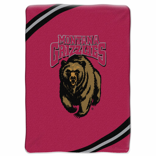 Montana Grizzlies NCAA Force Series Raschel Plush 60x80 Twin Size Throw/Blanket