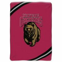 Montana Grizzlies NCAA Force Series Raschel Plush 60x80 Twin Size Throw/Blanket