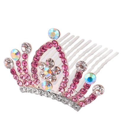 Colorful Faux Rhinestone Accent Bridal Wedding Hairpin Hair Crown Comb Clip