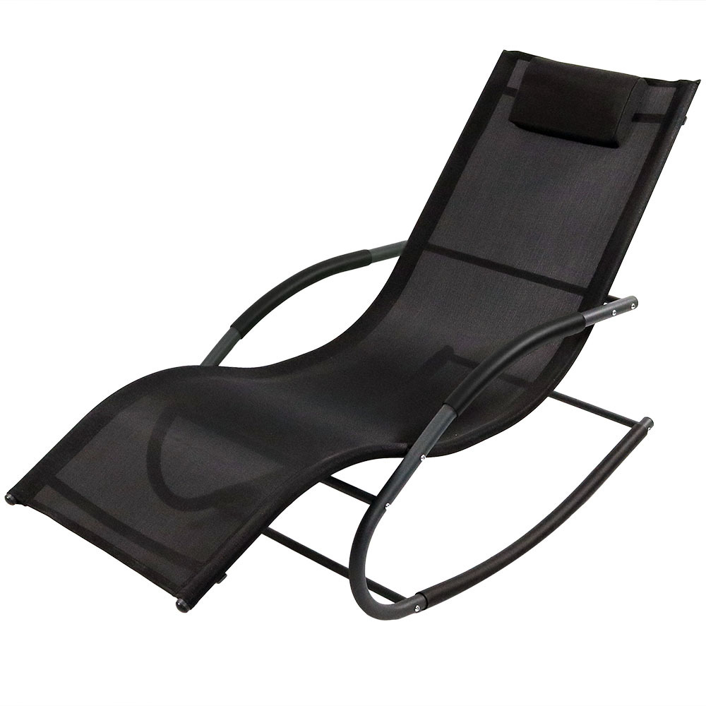 Sunnydaze Rocking Wave Lounger w/ Pillow, Multiple Colors Available
