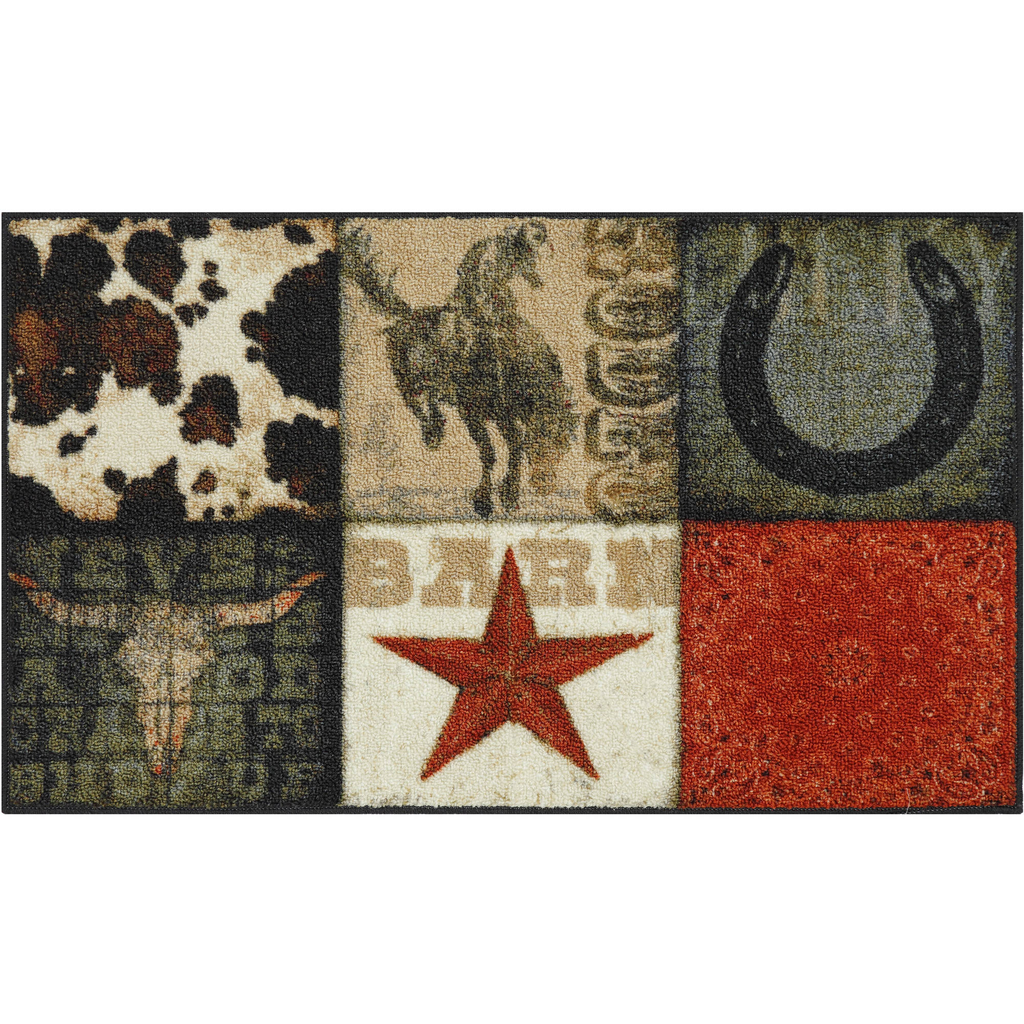 Mainstays Texas Cowboy Kitchen Rug