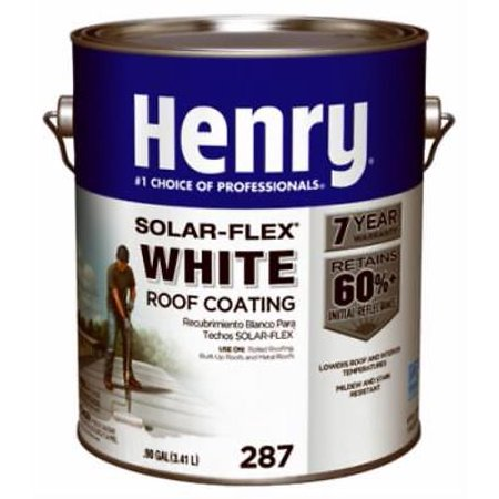 Solar Flex Gallon White Elastomeric Roof Coating Walmart Com