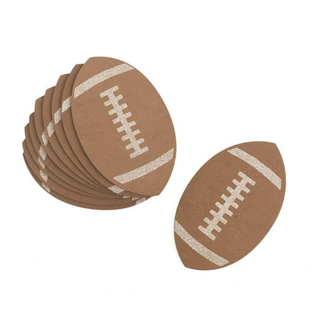 Football Foam Glittered Cutouts, 3-1/2-Inch, 10-Count - Football Player Cutouts