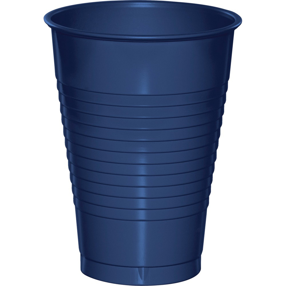 12 oz Solid Plastic Cups Navy/Case of 240