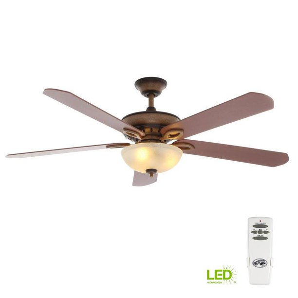 Hampton Bay Asbury 60 In LED Oil Rubbed Bronze Ceiling Fan