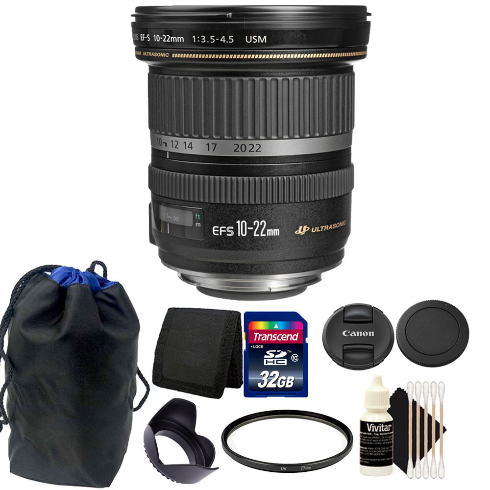 Canon EF-S 10-22mm f/3.5-4.5 USM Lens for Canon DSLR Came...