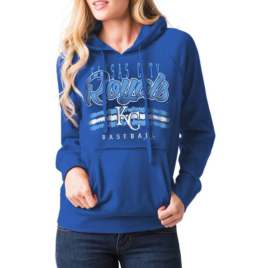 MLB Kansas City Royals Women's Fleece Pullover Graphic Hoodie