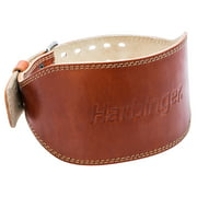 Harbinger Classic Oiled Leather Weightlifting Belt, 6-Inch, Large