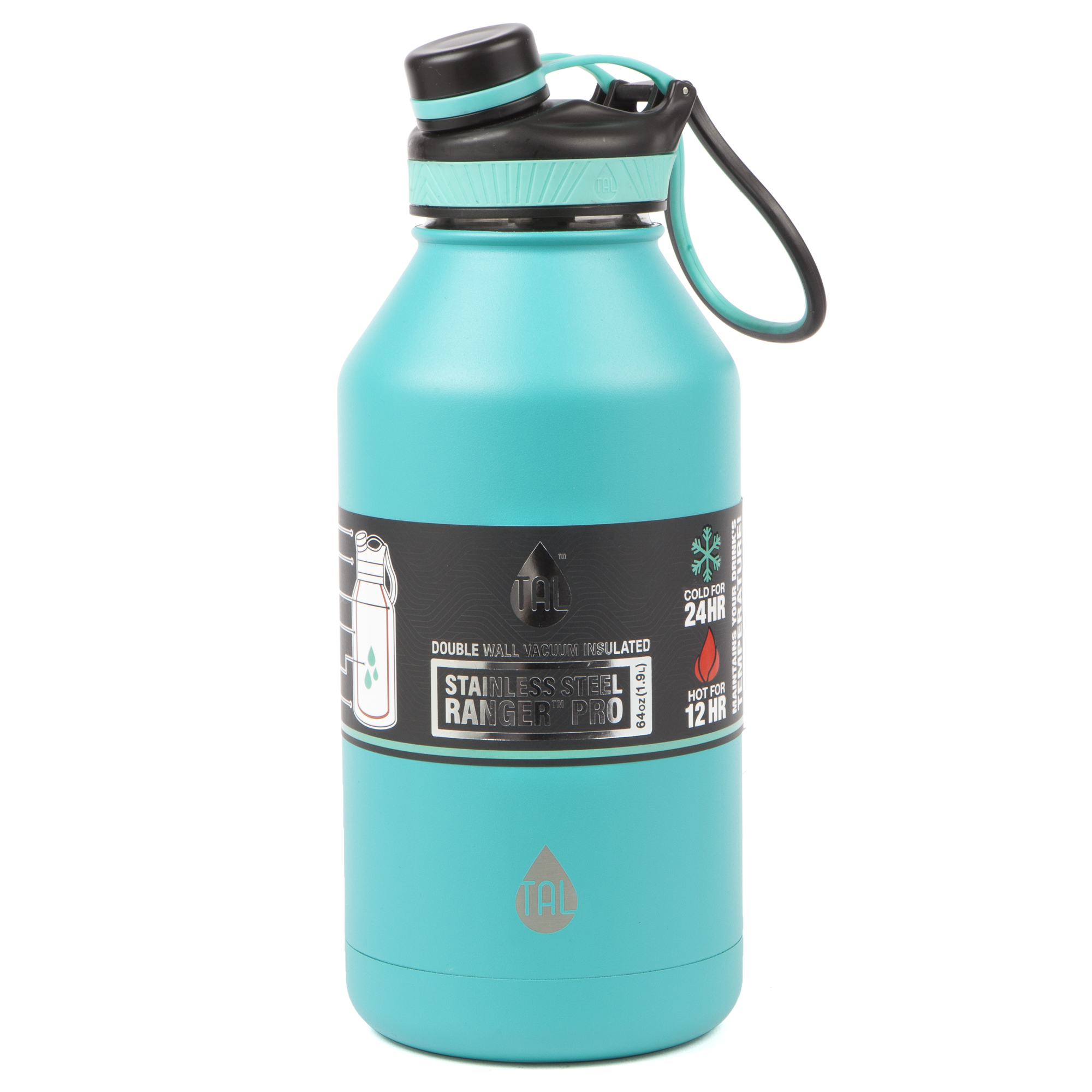 eb6c60f706 TAL 64oz Insulated Stainless Steel Ranger™ Pro Water Bottle, Red -  Walmart.com