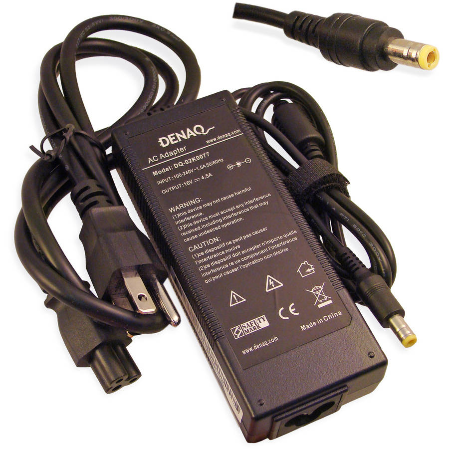 DENAQ 16-Volt 4.5-Amp 5.5mm-2.5mm AC Adapter for IBM ThinkPad Series Laptops