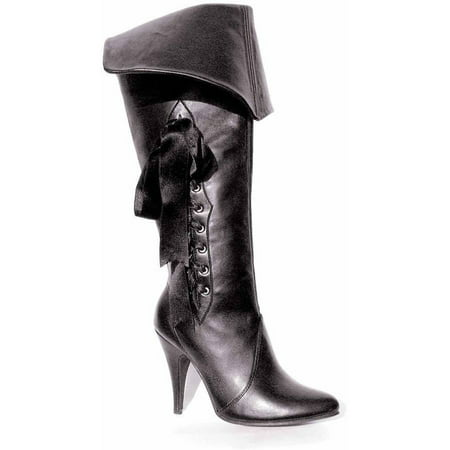 Pirate Black Boots Women's Adult Halloween Costume - Black Pirate Boots