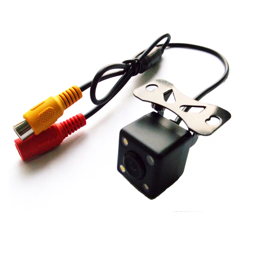 170 Angle Car Rear View Reverse Camera Night Vision 4 LED Waterproof Guide Line