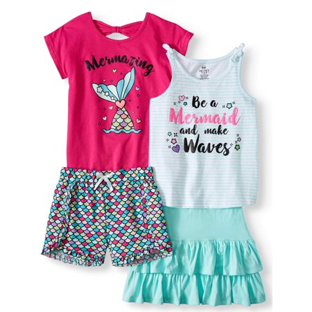 Mermaid Mix and Match, 4-Piece Outfit Set (Little Girls & Big Girls)](Little Girls Halloween Outfits)