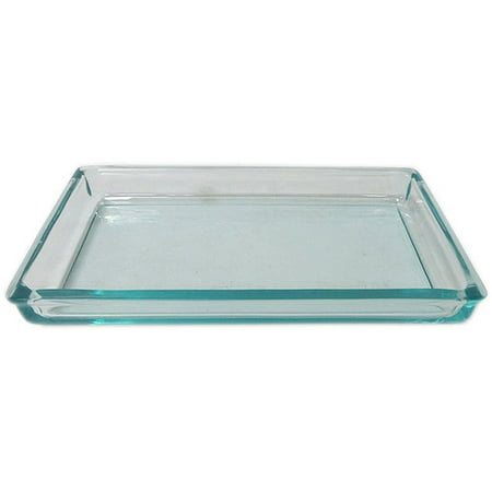 Better Homes & Gardens Glass Blue Vanity Tray, 1 (Blue Hostess Tray)