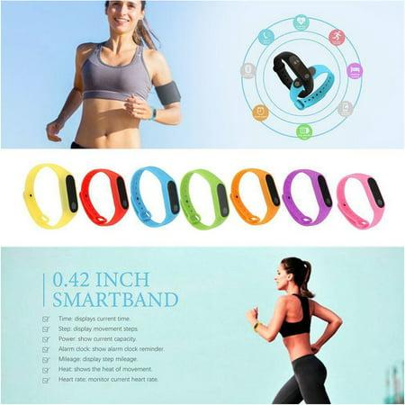 M2 Smart Bracelet Touch Screen Bracelet Heart Rate Monitoring Sports Bracelet - image 4 de 9