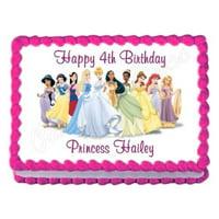 Disney Princess Jasmine Snow White Mulan Aurora Cinderella Edible Cake Topper Image