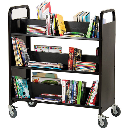 Guidecraft Book Truck, Multiple Colors