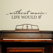 Belvedere Designs LLC Life Would Be Flat Wall Quotes  Decal
