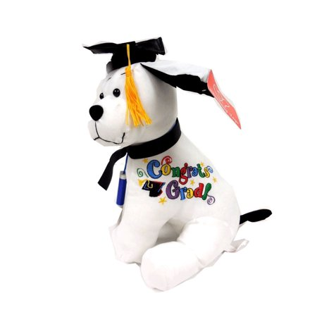 Graduation Autograph Hound Dog Toys Grad Students Gift Toys Party w/ Pen
