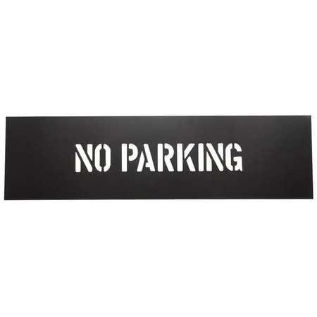 No Parking Stencils - 1F122 No Parking Stencil, PVC Plastic