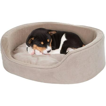 Petmaker Cuddle Round Microsuede Pet Bed Medium Clay